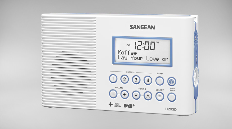 Sangean shower radio H203