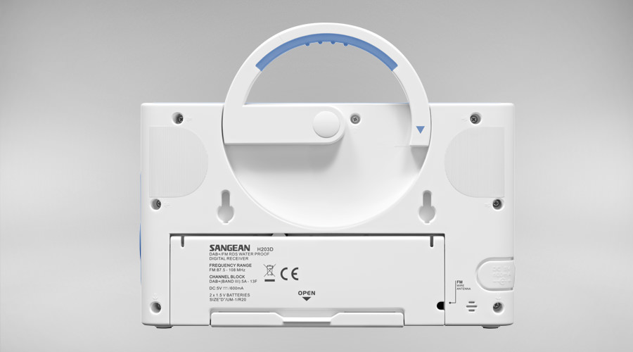 Sangean H203D shower radio